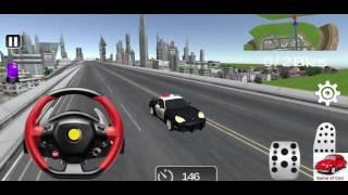 Araba oyunu, polis arabası ile motorsikletli suçluları yakalıyoruz