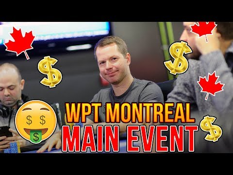 PartyPoker WPT $5,000 Main Event at Playground Poker Club in Montreal Vlog