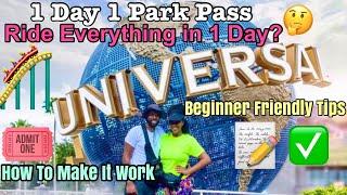 Universal Studios Orlando   Making a 1 Day 1 Park Pass Work 🎢