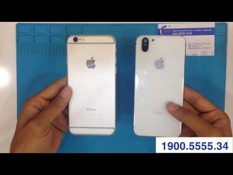 Độ vỏ iPhone 6 lên iPhone X   Bệnh viện điện thoại 24h