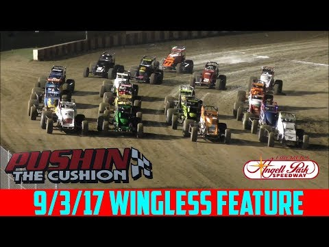 Angell Park Speedway - 9/3/17 - Wingless - Feature