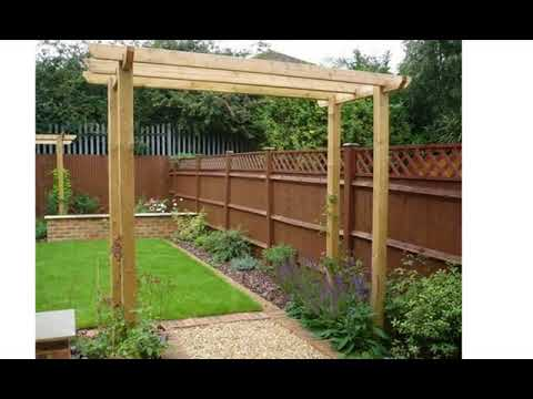 Small rectangular garden design - YouTube