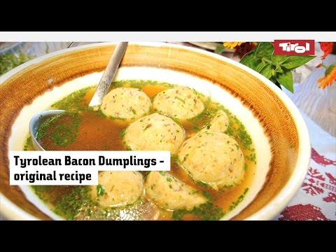 Austrian Bacon Dumplings: original recipe