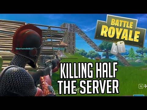 KILLING HALF OF THE SERVER (Fortnite)
