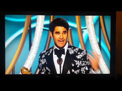 Fil-Am actor Darren Criss thanking his filipino mom after winning Golden Globe Best Actor TV movie Mp3
