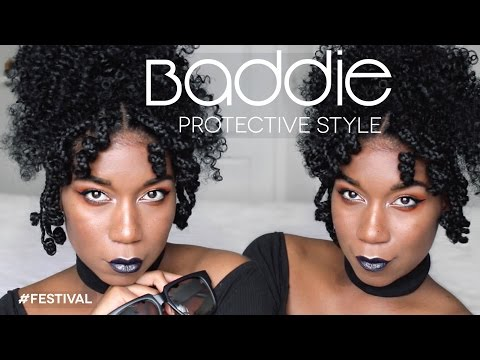 FESTIVAL BADDIE | Easy Natural Hairstyle - Protective Hairstyle