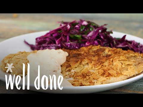 Tortilla Crusted Tilapia With Citrus Slaw And Chipotle Tartar Sauce | Recipe | Well Done