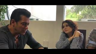 Salman Khan Listening Song Selfish of his own movie Race 3