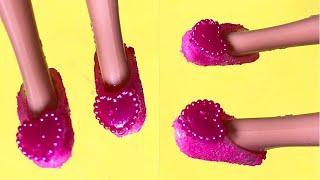Làm đồ cho búp bê | 5 Cách làm giày dép cho búp bê | SÒ DIY