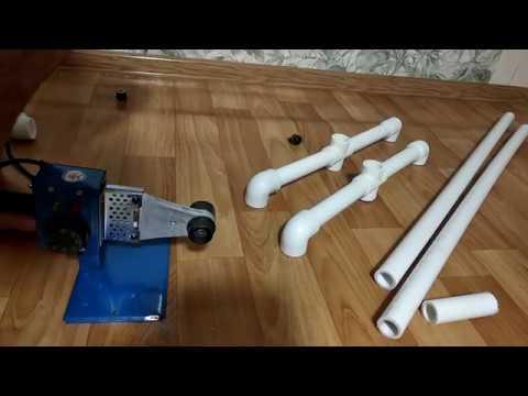 Напольная вешалка своими руками. Из ПВХ трубы.