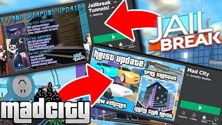 MAD CITY VS JAILBREAK COMPARISON SIDE BY SIDE SCREENS (Roblox)