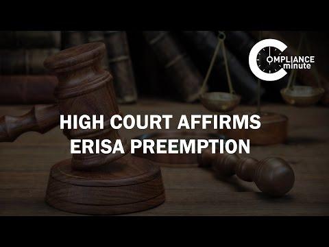 High Court Affirms ERISA Preemption | March 16, 2016