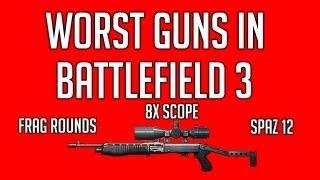 Worst Guns in Battlefield 3 - Episode 1 - Spas 12, 8x scope, Frag Rounds