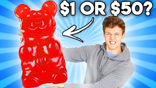 Can You Guess The Price Of These GIANT GUMMY FOODS!? (Zero Budget GAME)