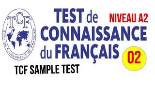 TCF blanc - Test de connaissance du français A2- Video 2