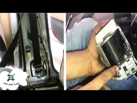 How to Unlock Locked Seat Belts after Accident Repair Easy Fix
