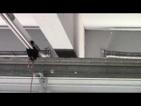 Garage Door Spring System Very Unusual Youtube