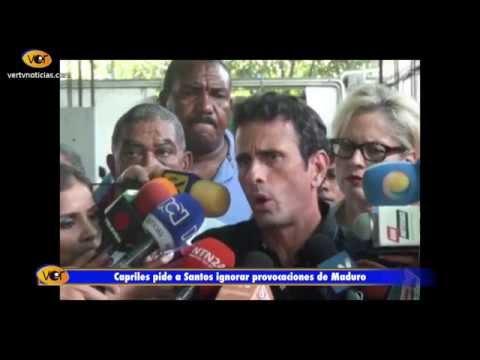 Capriles pide a Colombia que no caiga en las provocaciones de Maduro