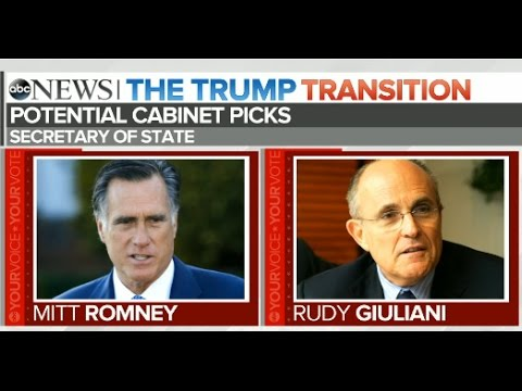 Trump Transition: Secretary of State Contenders