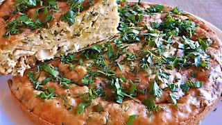 Заливной Пирог с Курицей и Зелёным  Луком - Вкусно и Быстро. Заливной Куриный Пирог
