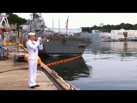 USS Fitzgerald Collision | U.S.  Navy holds Memorial Service in Japan for 7 Sailors Killed