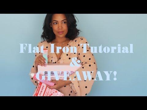 FLAT IRON TUTORIAL W/ EVA NYC & A GIVEAWAY