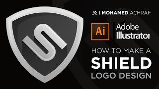 Illustrator Tutorial : How To Make A Shield Logo Design