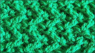 Вязание коврика крючком. Простой коврик крючком. Зигзаг крючком. (crochet mat)