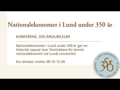 Nationalekonomer i Lund under 350 år