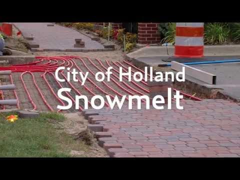 Holland, MI Snowmelt Installation