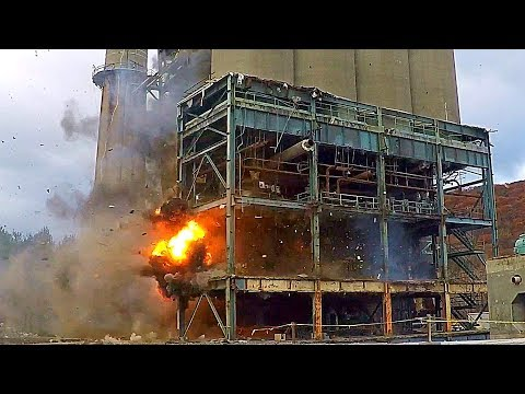 Mount Tom Power Plant Hung Boiler/Silo Bay Structure - Controlled Demolition, Inc.
