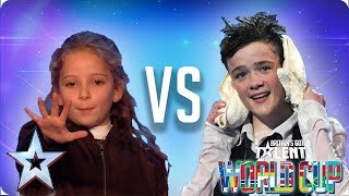 Issy Simpson vs George Sampson | Britain's Got Talent World Cup 2018