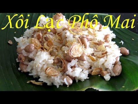 [КЛЕЙКИЙ РИС рецепт] Как варить вьетнамский клейкий рис с орехами и сыром уличная еда во Вьетнаме