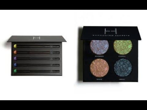 Linda Hallberg Cosmetics ENCHANTED SECRETS PALETTE & MOODS CRAYON KIT Swatch & Review & Dupes