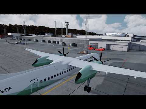 The Q400 is back! ENVA to ENBR in the amazing 64bit Majestic plane