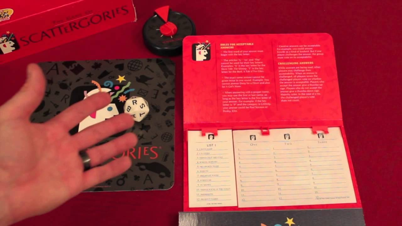 Scattergories Review - with the Game Boy Geek - YouTube