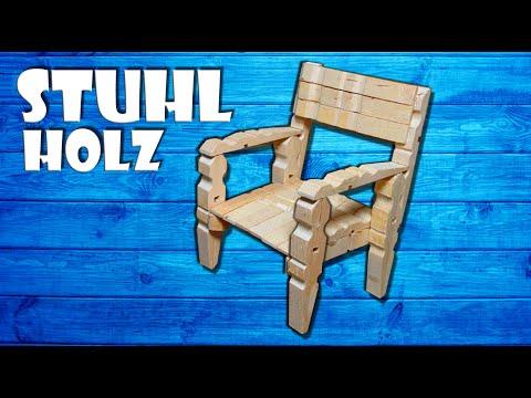 Stuhl Aus Wäscheklammern Selber Basteln - Wooden Chair With Clothespin Craft DIY [4K]