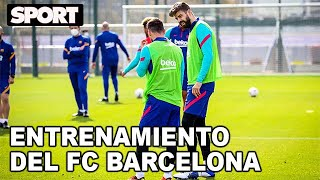EL ENTRENAMIENTO DEL FC BARCELONA para PREPARAR EL PARTIDO de LIGA ante el Valladolid🏋