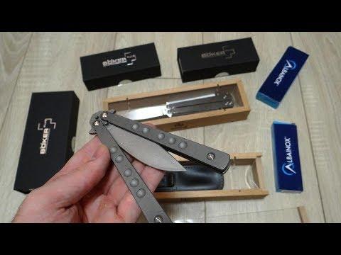Много ножей- бабочек! Балисонги- Распаковка- Unboxing 2019