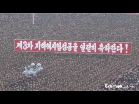 North Korea holds mass rally to celebrate nuclear test