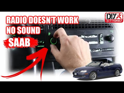 ***HOW TO FIX RADIO NO SOUND 2005 SAAB***