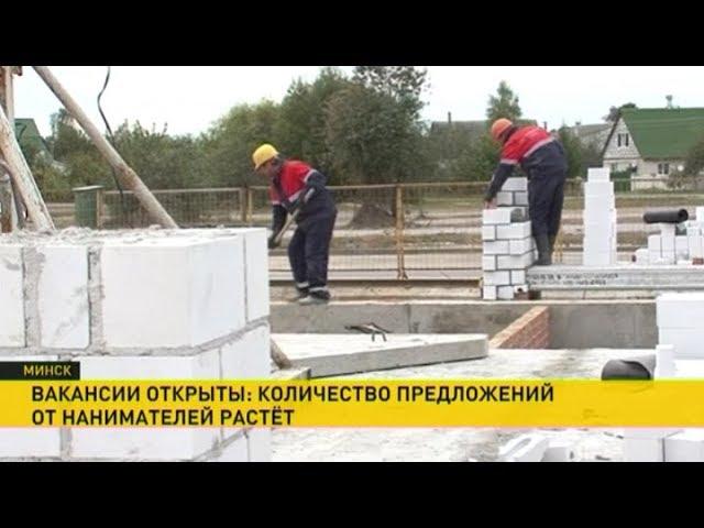 Рекордное за пять лет количество вакансий зафиксировано на рынке труда Беларуси