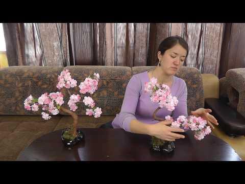 Бонсай искусственный с цветами сакуры