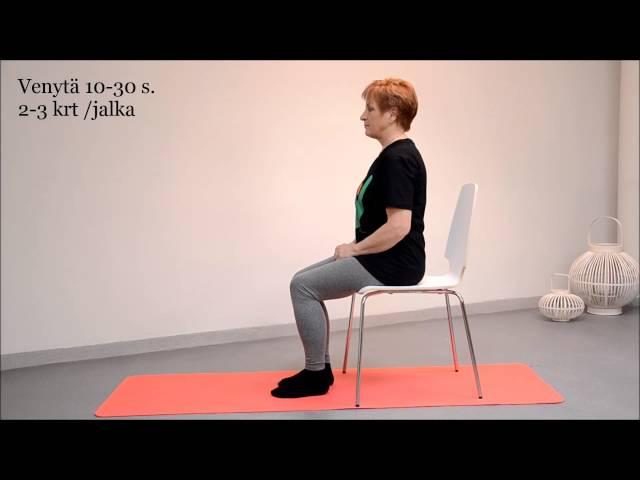 video 2 Takareiden venytys istuen