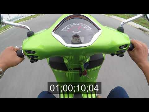 Thử khả năng tăng tốc của Vespa GTS Super 300; 0-100 km/h: 11,18 giây