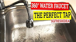 SGFreshIdea 360 Water Saving Faucet Nozzle - Perfect Tap Attachment - With Extension or Without