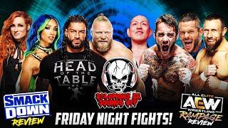 WWE SmackDown + AEW Rampage 10/15/21 Review - BROCK LESNAR APPEARS! DANIELSON VS. SUZUKI!