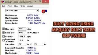 Design Tools Duct Sizer Mcquay Free Download