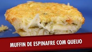Muffin de espinafre com queijo  [ a ideia é boa mas só para quem tem forno ]