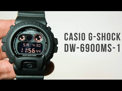 Casio G shock DW 6900MS 1 : Unboxing & Light Demo